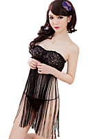 Women's Suits Nightwear,Sexy Lace Jacquard-Thin Polyester Nylon Spandex
