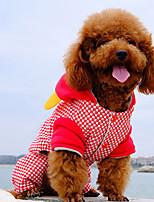 Cane Tuta Abbigliamento per cani Casual Cartoni animati Rosso