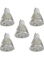 5 pezzi 5W GU10 Faretti LED 5 leds LED ad alta intesità Oscurabile Bianco 400lm 6000K 110-120V