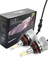 Joyshine C6-9007 LED Headlight Bulbs 60W 6000LM DC9-36V COB Conversion Bulb Beam Kit Cool White