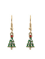 Women's Drop Earrings Simple Basic Alloy Irregular Jewelry For Gift Christmas