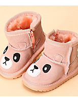 Girls' Shoes Cowhide Fall Winter First Walkers Snow Boots Boots For Casual Camel Blushing Pink Fuchsia Black