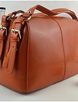 Women Bags All Seasons Cowhide Shoulder Bag Zipper for Casual Brown
