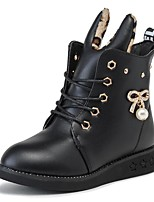 Girls' Shoes PU Winter Comfort Boots Booties/Ankle Boots For Casual Red Dark Blue Black