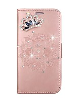 cheap -Case For Huawei P9 Lite Huawei Huawei P8 Lite Card Holder Wallet Rhinestone with Stand Flip Pattern Embossed DIY Full Body Cases Mandala