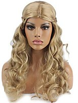Women Synthetic Wig Capless Long Natural Wave Body Wave Dark Blonde Party Wig Halloween Wig Cosplay Wig Natural Wigs Costume Wig