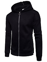 Men's Daily Going out Casual Sexy Hoodie Color Block Letter Hooded Micro-elastic Cotton Long Sleeve Spring Fall