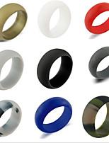 joyería clásica del círculo del gel de silicona del estilo simple de las mujeres de los hombres para el compromiso de la boda