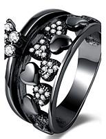 Муж. Жен. Классические кольца Обручальное кольцо Цирконий Циркон Сплав Круглой формы В форме сердца Бижутерия Назначение Свадьба Для