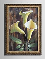 Floral/Botânico Vida Imóvel Vintage Quadros Emoldurados Conjunto Emoldurado Arte de Parede,PVC Material com frame For Decoração para casa
