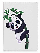 Panda and Bamboo Pattern Card Holder Wallet with Stand Flip Magnetic PU Leather Case for Samsung Galaxy Tab S2 T810 T815 9.7 inch Tablet PC