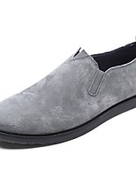 Men's Shoes Real Leather Spring Fall Comfort Loafers & Slip-Ons For Casual Khaki Gray Black