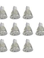 10 pezzi 5W GU10 Faretti LED 10 leds LED ad alta intesità Oscurabile Bianco 400lm 6000K 110-120V