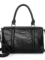 Women Bags All Seasons PU Tote Zipper for Casual Outdoor Black