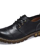 Для мужчин обувь Наппа Leather Осень Зима Удобная обувь Туфли на шнуровке Шнуровка Назначение Повседневные Черный Кофейный
