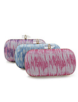Women Bags All Seasons PU Evening Bag Buttons for Event/Party Outdoor Blue Purple Fuchsia