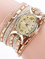 Жен. Модные часы Часы-браслет Имитационная Четырехугольник Часы Китайский Кварцевый Имитация Алмазный PU Группа Кулоны На каждый день