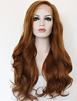 Women Synthetic Wig Lace Front Medium Length Long Curly Wavy Straight Natural Wave Loose Wave Brown Lolita Wig Party Wig Celebrity Wig