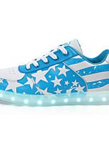 Masculino sapatos Couro Ecológico Primavera Outono Conforto Tênis Para Casual Azul Escuro Azul Claro