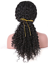 Women Synthetic Wig Lace Front Long Curly Black Natural Hairline Natural Wigs Costume Wig