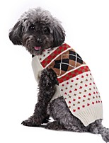 Dog Sweater Dog Clothes Casual/Daily British Beige Costume For Pets