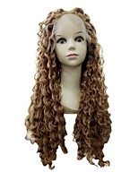 Long Length Present Best Selling Peruvian  Human Hair Kinky Curly  Full Lace Wigs For Women