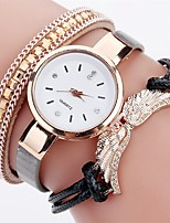 Women's Fashion Watch Simulated Diamond Watch Bracelet Watch Chinese Quartz Wing Imitation Diamond PU Band Charm Elegant Casual Black