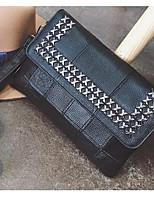 Women Bags All Seasons Cowhide Clutch Zipper for Casual Black
