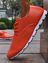 Men's Shoes PU Summer Comfort Sneakers For Casual Orange Black White
