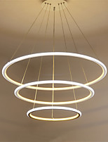 Modern LED Pendant Light Three Rings Living Room Restaurant External White light Inside Warm White