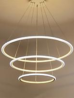 moderna lampada a sospensione principale tre anelli sala soggiorno ristorante bianco esterno luce interna caldo bianco