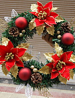 Christmas Wreath 1 Colors Pine Needles Christmas Decoration For Home Party Diameter 30cm Navidad New Year Supplies