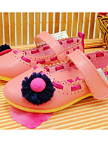 Girls' Shoes Leatherette Spring Fall Flower Girl Shoes Flats For Casual Blushing Pink Peach
