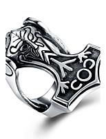 Недорогие -Муж. Массивные кольца , металлический Хип-хоп Готика Нержавеющая сталь Геометрической формы Бижутерия Новый год Валентин