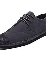 Для мужчин обувь Нубук Замша Весна Осень Удобная обувь Туфли на шнуровке Шнуровка Назначение Повседневные Черный Серый Хаки