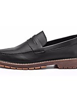 Men's Shoes PU Leatherette Spring Fall Comfort Loafers & Slip-Ons For Casual Khaki Brown Black