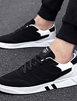 Men's Shoes PU Spring Fall Comfort Sneakers Lace-up For Casual Outdoor Black/Red Black/White Gray Black