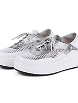 Women's Shoes Nappa Leather Spring Fall Comfort Sneakers For Casual Outdoor Red White