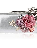 Femme Sacs PVC Sac de soirée Fleur(s) pour Mariage Soirée / Fête Toutes les Saisons Noir Argent Rouge Violet Fuchsia