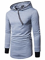 Men's Daily Sports Going out Casual Street chic Punk & Gothic Hoodie Color Block Hooded Micro-elastic Polyester Long Sleeve Winter Spring