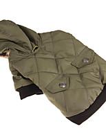 Chien Manteaux Vêtements pour Chien Décontracté / Quotidien Léopard Vert Costume Pour les animaux domestiques