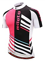 Miloto Cycling Jersey Short Sleeves Bike Jersey Reflective Strip Autumn/Fall Summer Cycling Black/Red