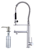 Centerset Widespread Ceramic Valve Electroplated , Kitchen faucet