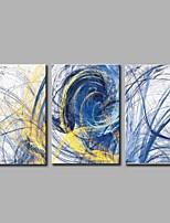 Peint à la main Abstrait simple Moderne Trois Panneaux Toile Peinture à l'huile Hang-peint For Décoration d'intérieur