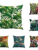 Set Of 6 Classic Tropical Plants Patternr Vintage Sofa Cushion Cover Home Decor Pillow Case 45*45Cm
