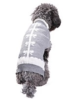 Hund Pullover Hundekleidung Lässig/Alltäglich Schleife Grau