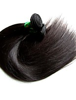 Unprocessed Indian Natural Color Hair Weaves Straight Hair Extensions Five-piece Suit Black