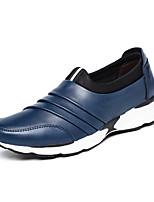 Hombre Zapatos Cuero de Napa Primavera Otoño Confort Zapatos de taco bajo y Slip-On Volantes Para Casual Fiesta y Noche Negro Rojo Azul