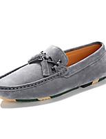 Hombre Zapatos Ante Primavera Otoño Confort Zapatos de taco bajo y Slip-On Borla(s) Para Casual Negro Beige Gris
