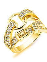 Women's Cubic Zirconia Elegant Zircon Gold Plated Crown Jewelry For Wedding Office & Career